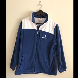 NFL Colts Blue/White Zip Up Sweatshirt Size Large